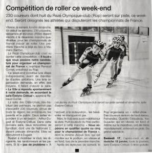 Ouest France édition du 17 janvier 2015